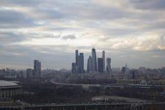 Cidade de Moscou da paisagem, Moscou, Rússia Foto de Stock