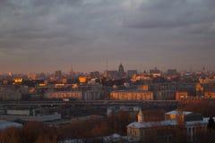 Cidade de Moscou da paisagem, Moscou, Rússia Imagens de Stock Royalty Free