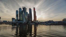 Cidade de Moscovo do centro de negócios video estoque