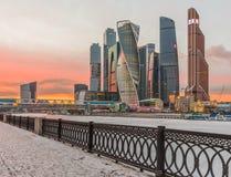 Cidade de Moscovo do centro de negócios Foto de Stock