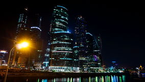 Cidade de Moscovo do centro de negócios tempo-lapso 20 de setembro de 2014 video estoque