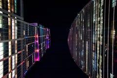 Cidade de Moscovo na noite Fotografia de Stock Royalty Free