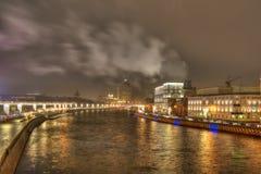 Cidade de Moscovo Rio de Moskva Fotos de Stock