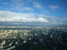 Cidade de Moscovo Vista da torre de Ostankino no outono imagens de stock royalty free