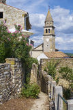 Cidade de Motovun, istria Fotos de Stock