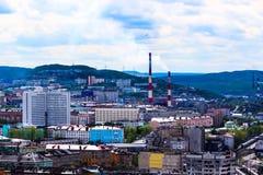 Cidade de Murmansk, Rússia Fotos de Stock