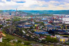 Cidade de Murmansk, Rússia imagens de stock