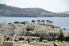 Cidade de Mykonos Fotografia de Stock