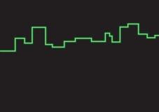 Cidade de néon Imagens de Stock