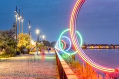 Cidade de Nantes em França foto de stock