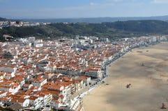 Cidade de Nazare, Portugal Foto de Stock Royalty Free