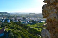 A cidade de Obidos Fotos de Stock Royalty Free