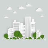 Cidade de papel Imagens de Stock