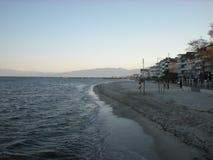 Cidade de Paralia em Grécia TESSALÓNICA Fotografia de Stock