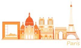 Cidade de Paris, panorama mundialmente famoso dos lugares Fotos de Stock Royalty Free