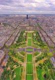Cidade de Paris vista de cima de Fotos de Stock