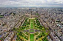 Cidade de Paris vista de cima de Imagens de Stock
