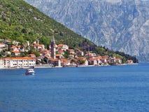 Cidade de Perast em Montenegro imagem de stock royalty free