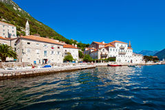 Cidade de Perast, Montenegro Foto de Stock