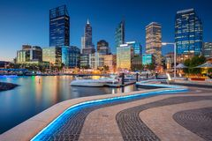Cidade de Perth imagem de stock royalty free