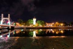 Cidade de Phan Thiet na noite Fotos de Stock Royalty Free