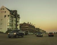 Cidade de Pinamar no por do sol Foto de Stock Royalty Free