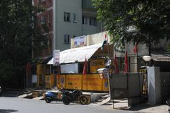 Cidade de Pondicherry, Índia fotografia de stock