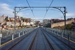 Cidade de Porto de Dom Luiz que eu construo uma ponte sobre Imagem de Stock Royalty Free
