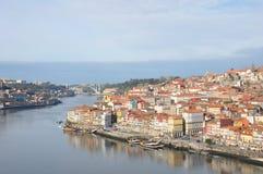 Cidade de Porto e do rio de Douro Foto de Stock