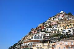Cidade de Positano, Amalfi Fotos de Stock Royalty Free