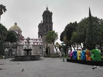 Cidade de Puebla fotografia de stock royalty free
