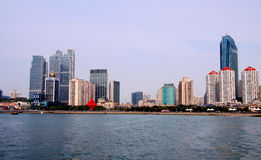 Cidade de Qingdao de shandong, porcelana imagens de stock