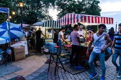 Cidade de Ramadan Festival Area In Yalova - Turquia fotos de stock