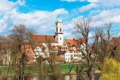 Cidade de Regensburg, Alemanha Fotografia de Stock