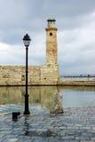 A cidade de Retimno. Porta. Fotografia de Stock