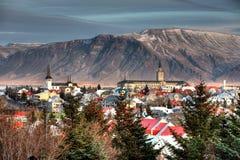 Cidade de Reykjavik Fotografia de Stock