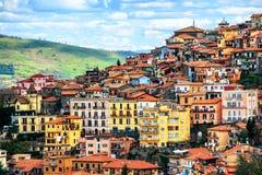 Cidade de Rocca di Papá em Alban Hills, Roma, Lazio, Itália fotografia de stock