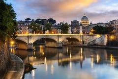 Cidade de Roma na noite Foto de Stock
