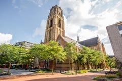 Cidade de Rotterdam em Países Baixos fotografia de stock