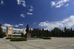 Cidade de Rybnitsa em Transnistria, na margem esquerda do rio de Dniester Fotos de Stock Royalty Free
