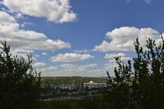 Cidade de Rybnitsa em Transnistria, na margem esquerda do rio de Dniester Imagem de Stock Royalty Free