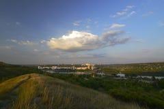 Cidade de Rybnitsa em Transnistria, na margem esquerda do rio de Dniester Foto de Stock