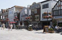 Cidade de Salisbúria Wiltshire Inglaterra Reino Unido fotos de stock royalty free
