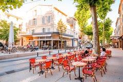 Cidade de Salon de Provence em França foto de stock