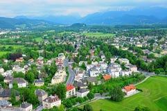 Cidade de Salzburg, Áustria Fotos de Stock Royalty Free