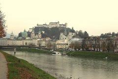 A cidade de salzburg em Áustria Fotos de Stock Royalty Free