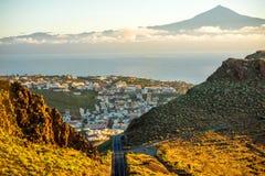 Cidade de San Sebastian na ilha de Gomera do La Imagens de Stock Royalty Free