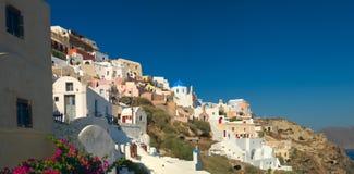 Cidade de Santorini Oia fotografia de stock royalty free