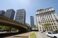 Cidade de Sao Paulo em Brasil fotos de stock