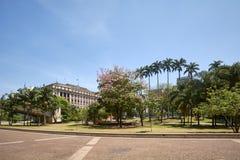 Cidade de Sao Paulo, vale de Anhangabau Fotografia de Stock Royalty Free